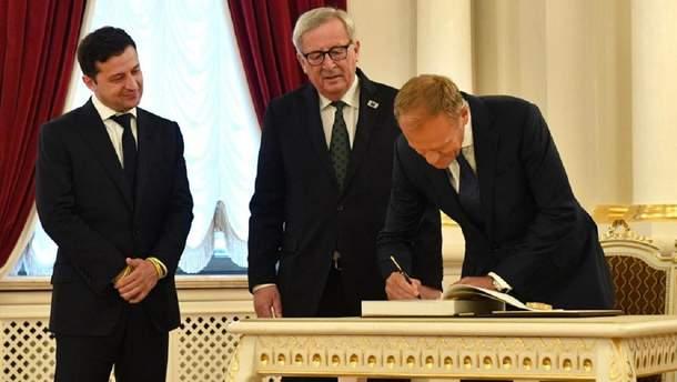 Зеленский, Юнкер и Туск на саммите Украина – ЕС