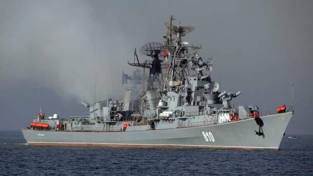 Російський корабель зайшов у закритий район проведення Sea Breeze 2019