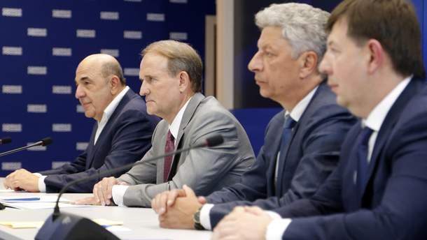 Чи впливають поїздки Медведчука, Бойка та Рабіновича до Росії на рейтинг партії