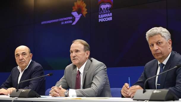 Рабінович, Медведчук і Бойко на переговорах у Москві