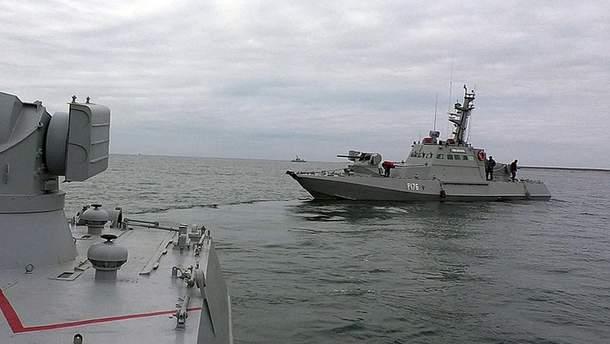 Украинские корабли, попавшие в плен на Азове