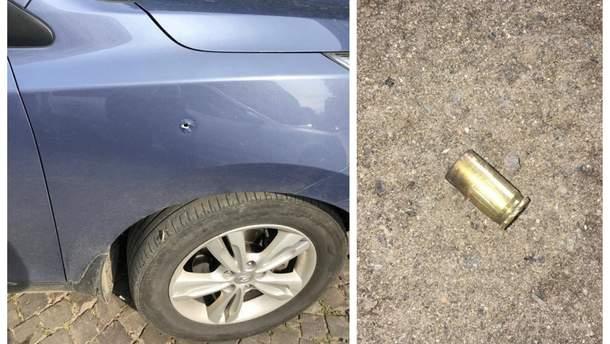 Обстріляне авто поліцейського