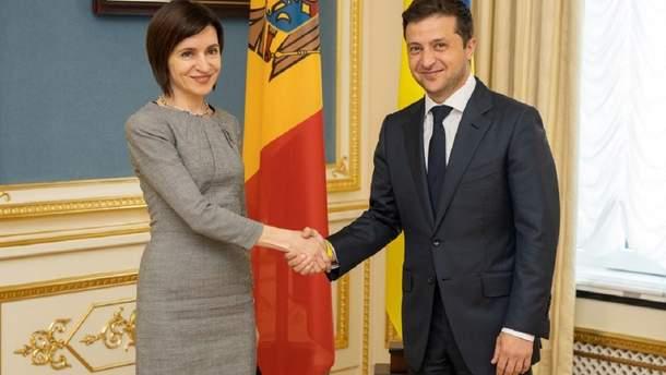 Зеленский провел совместный брифинг с премьером Молдовы Майей Санду