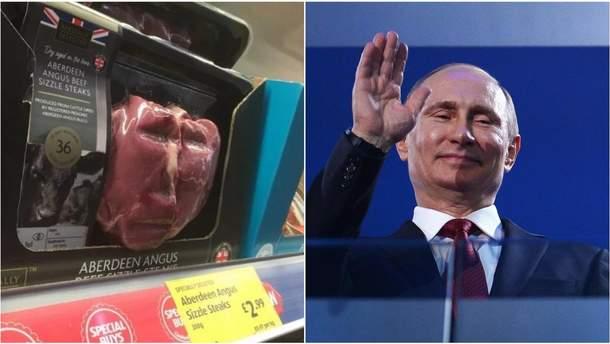 М'ясний Путін: у британському магазині покупця нажахав стейк із обличчям лідера Кремля (фото)