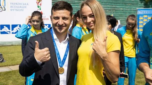 Володимир Зеленський та Дарія Білодід