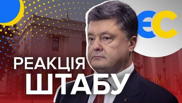 """Реакція """"Європейської Солідарності"""" на результати екзит-полів на парламентських виборах"""
