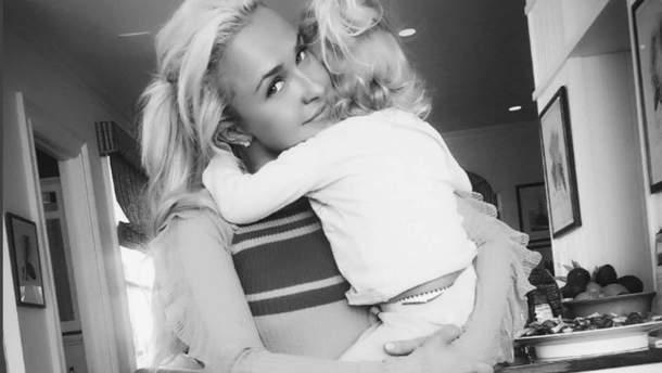 Хайден Панеттьєрі з донькою