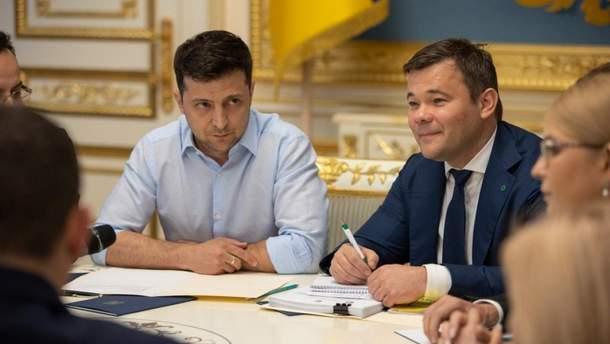 Володимир Зеленський та Андрій Богдан