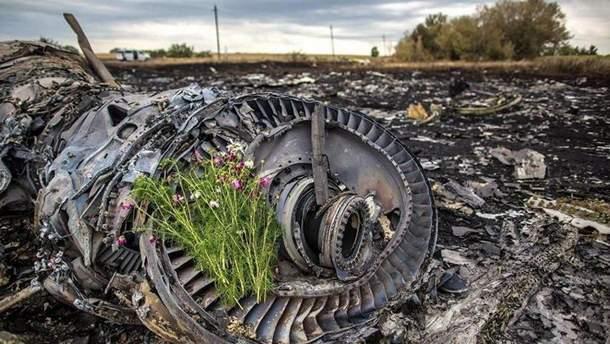 Остатки Boeing -777 после катастрофы