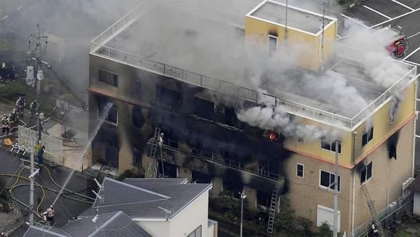 Пожар на студии аниме в Японии