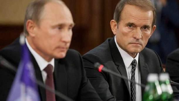 Виктор Медведчук рядом с Владимиром Путиным