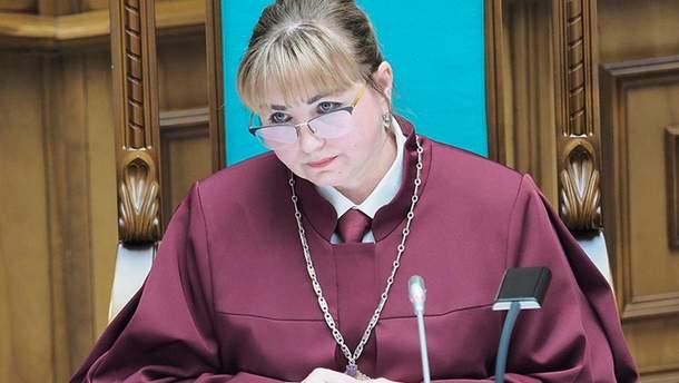 Голова Конституційного суду Наталія Шаптала заробила за червень понад 300 тисяч гривень