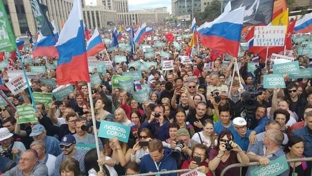 У Москві знову протести через вибори