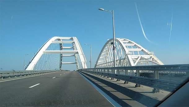 Пустой Крымский мост