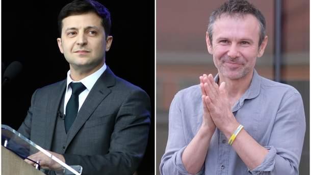 """Зеленский предлагает Вакарчуку создать коалицию между """"Слугой народа"""" и """"Голосом"""""""