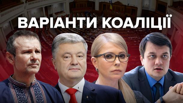Коаліція в новій Верховній Раді: хто з ким готовий об'єднатися