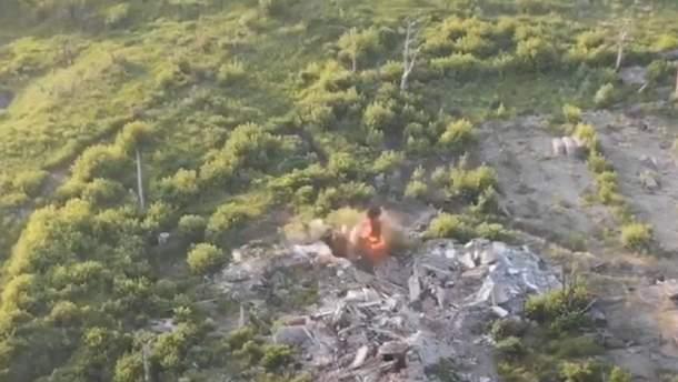 Військові знищили позиції ворога на Донбасі