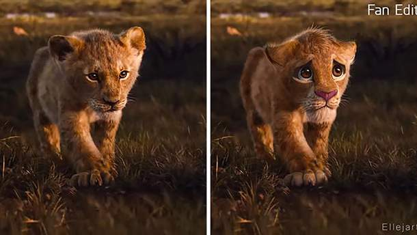 """Більше емоцій: фанати додали реалістичності героям """"Король Лев"""" як з оригінального мультфільму"""