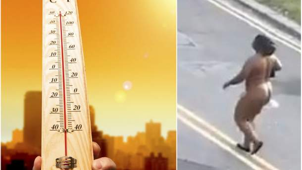Из-за безумной жары женщина прогулялась голышом в Лондоне