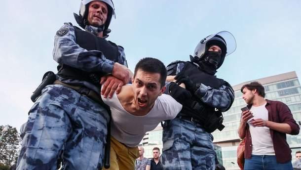 Массовые протесты в Москве