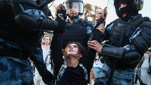 Подавление протеста в Москве