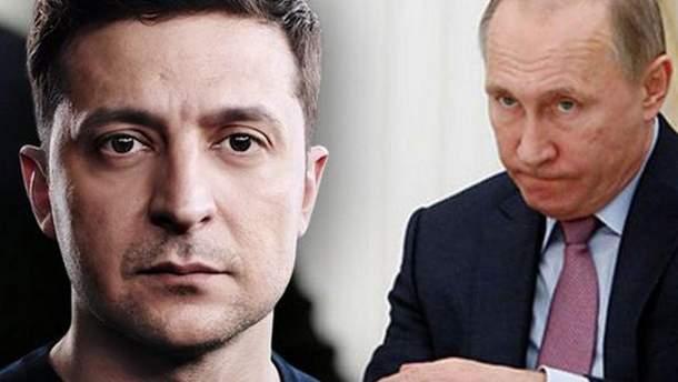 Володимир Зеленський та Володимир Путін