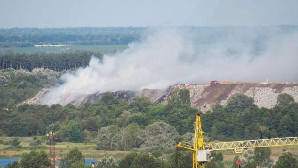 Пожар на Макуховской свалке