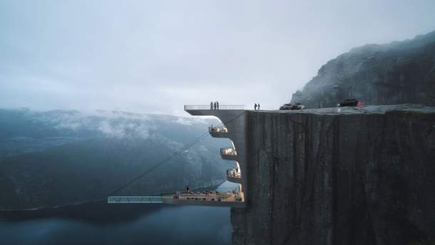 Отель с бассейном над пропастью может появиться в Норвегии