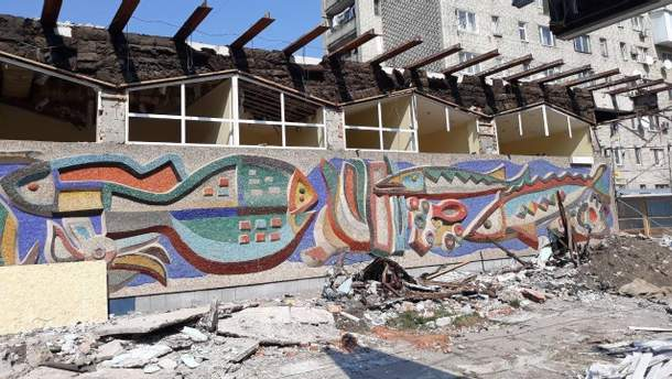 За знищення мозаїки на магазині у Львові забудовник сплатить штраф