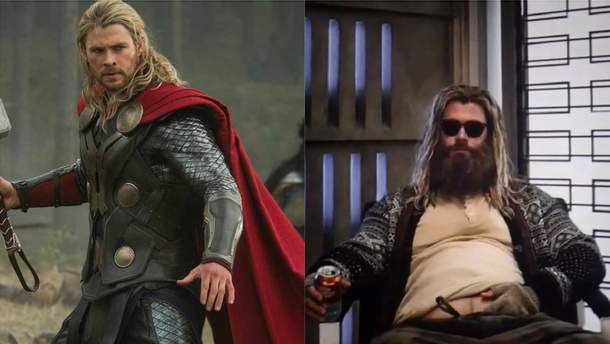 """Тор в разных частях фильма """"Мстители"""""""