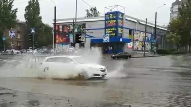 Затоплені вулиці Запоріжжя