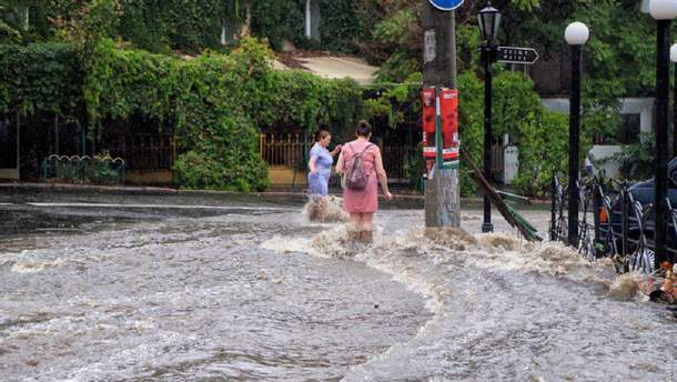 Большая вода в Одессе