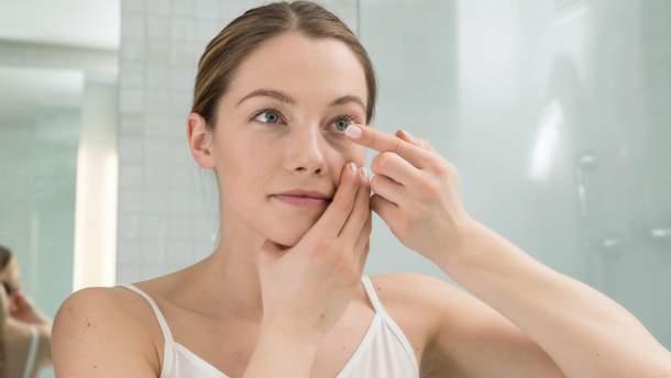 Что нельзя делать с контактными линзами