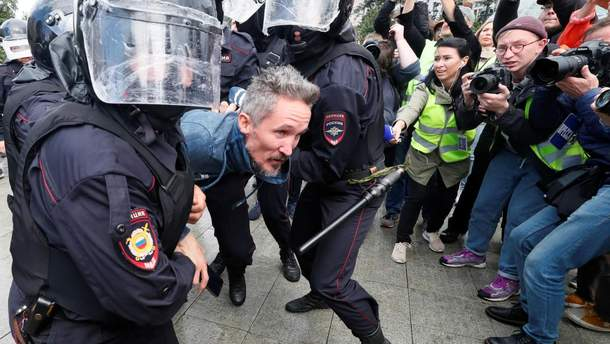 Протесты за честные выборы в Москве