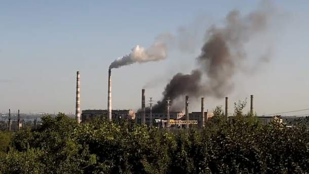 Пожар на ТЭС в Днепре