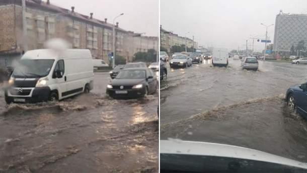 Мощный циклон затопил улицы Минска