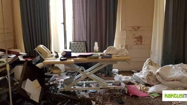 Дом Атамбаева после штурма