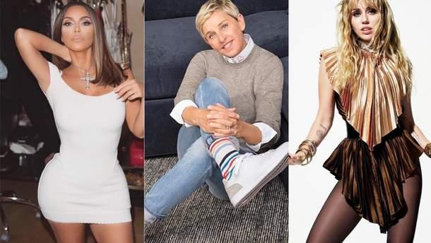 Кім Кардашян, Еллен Дедженерес і Майлі Сайрус