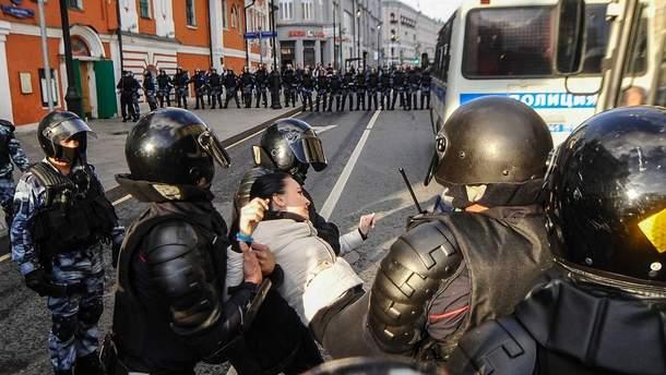 В  Москві пройшли масові акції протесту за останні кілька років