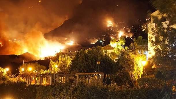 Пожежі на острові Гран-Канарія