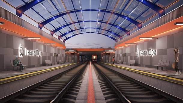 Сучасні станції швидкісного трамваю на Борщагівку