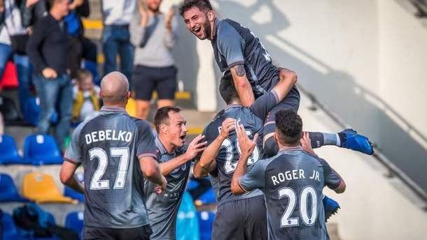 Роман Дебелко оформил дубль в матче Лиги Европы