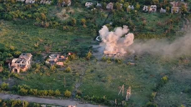 Украинские военные уничтожили позицию оккупантов на Донбассе