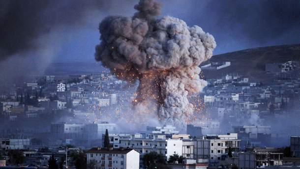 Архивное фото взрыва в Сирии
