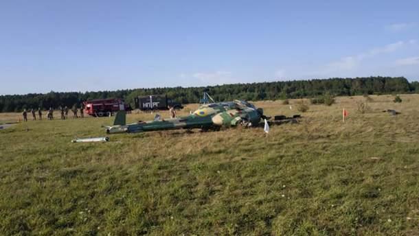 На Львовщине разбился военный вертолет Ми-2: из двух членов экипажа на борту никто не пострадал