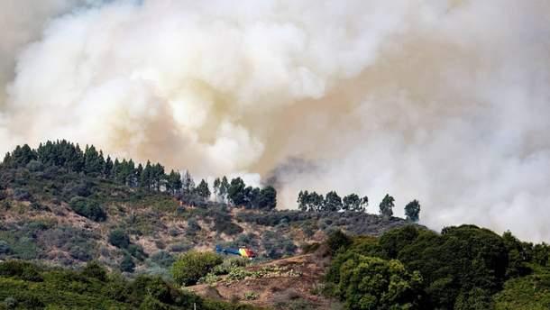 На Канарах снова вспыхнули масштабные лесные пожары