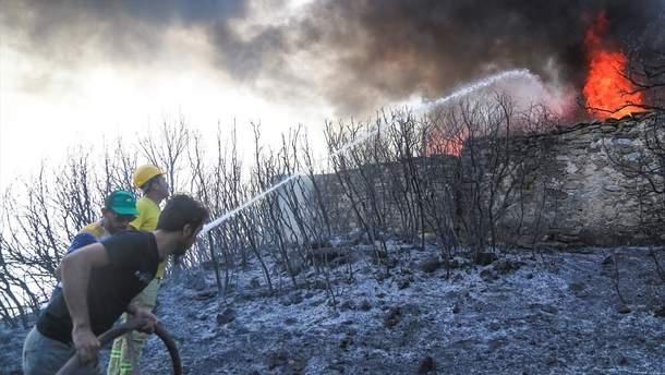 Масштабні лісові пожежі охопили південь та захід Туреччини
