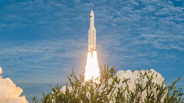 Взорвалась третья ступень ракеты Ariane-4