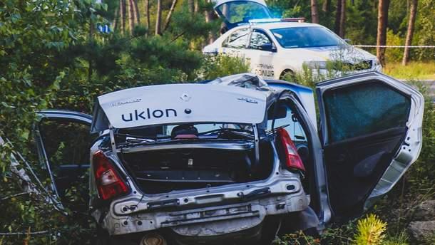 ДТП с участием такси Uklon