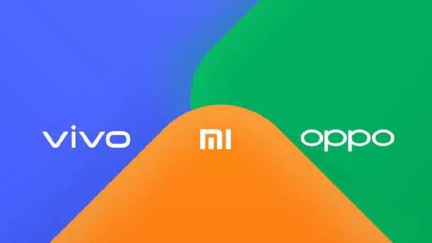 Xiaomi, Vivo і Oppo утворили альянс